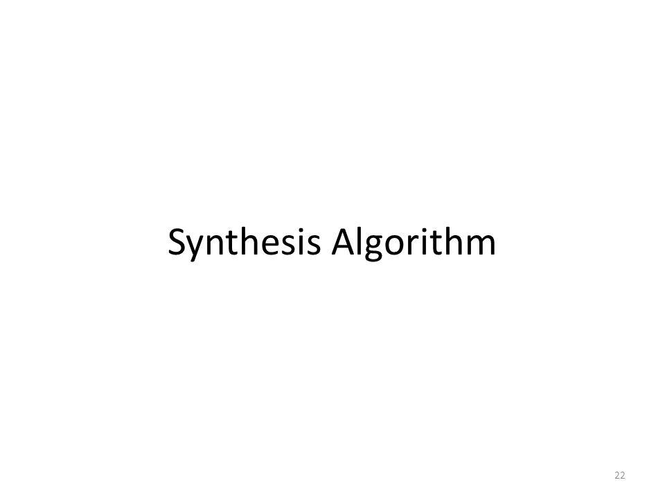 Synthesis Algorithm 22