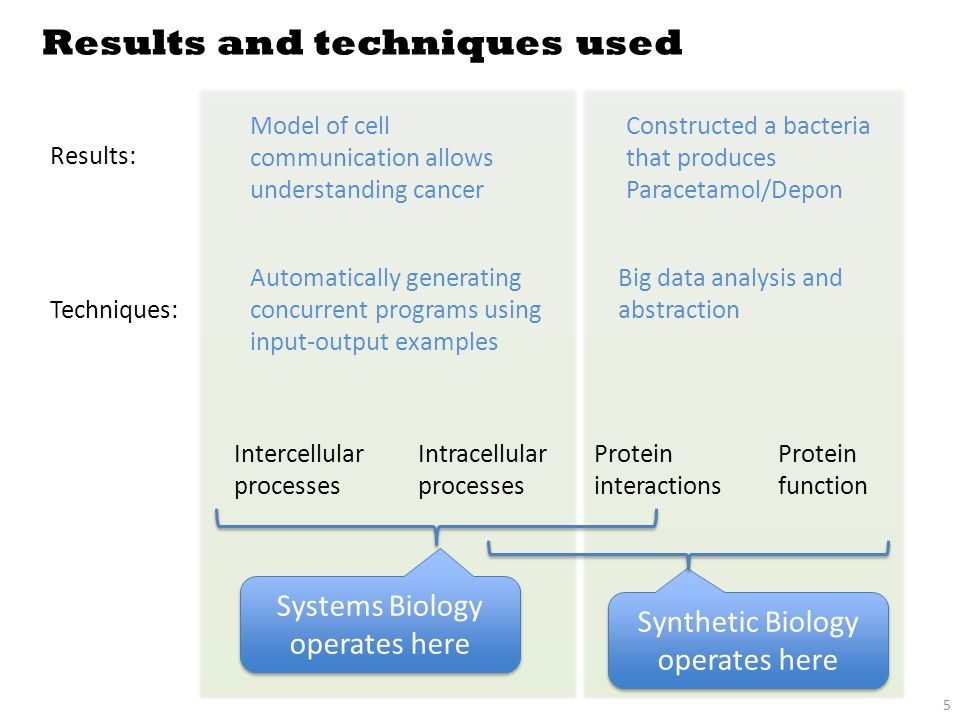PART I Synthesizing models for Systems Biology
