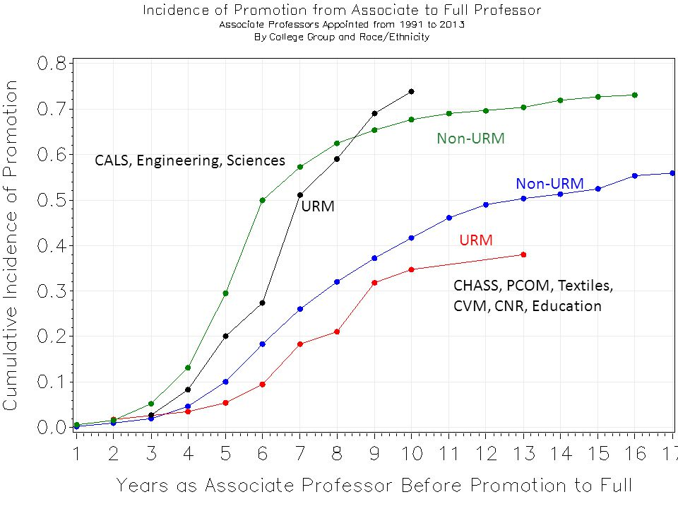 CALS, Engineering, Sciences Non-URM URM Non-URM URM CHASS, PCOM, Textiles, CVM, CNR, Education