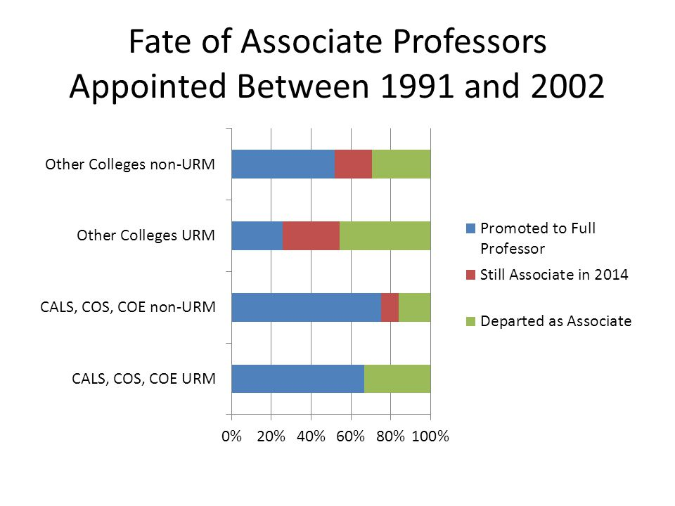Fate of Associate Professors Appointed Between 1991 and 2002