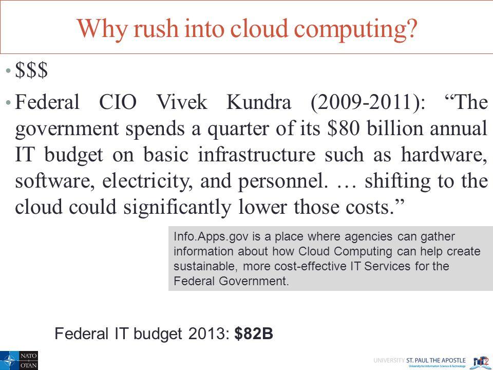 Why rush into cloud computing.
