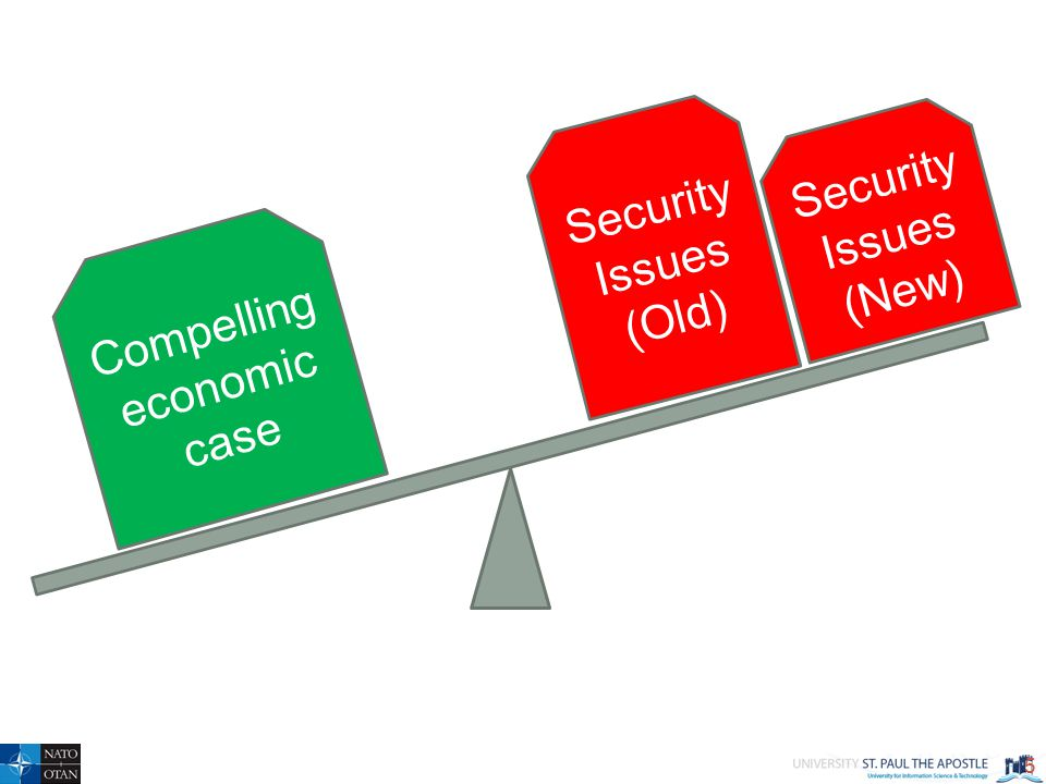 5 Compelling economic case Security Issues (Old) Security Issues (New)