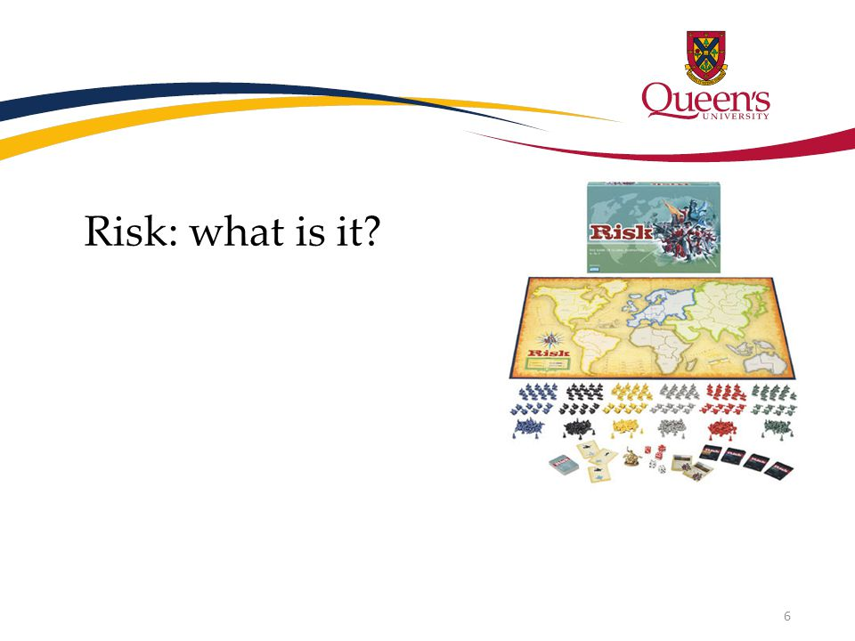 Risk: what is it? 6