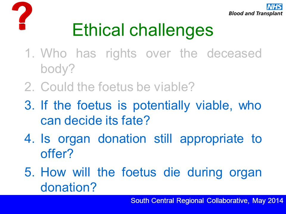 Ethical challenges 1.Who has rights over the deceased body.
