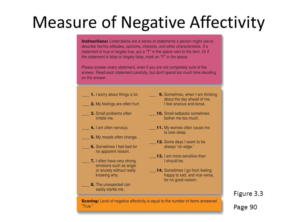 Measure of Negative Affectivity 3-8 Figure 3.3 Page 90