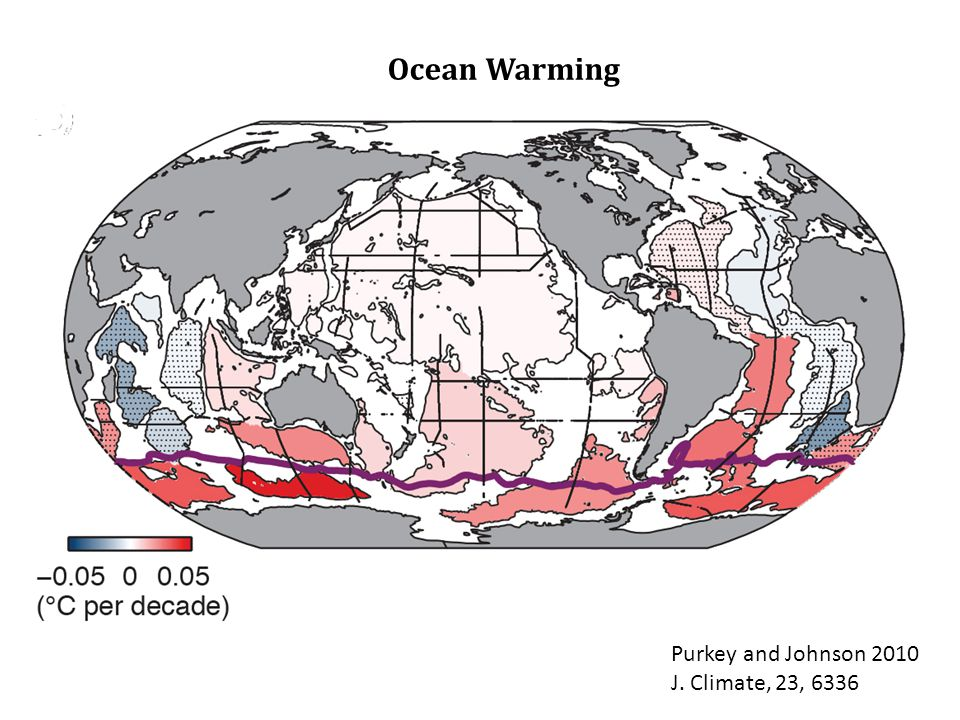 Ocean Warming Purkey and Johnson 2010 J. Climate, 23, 6336