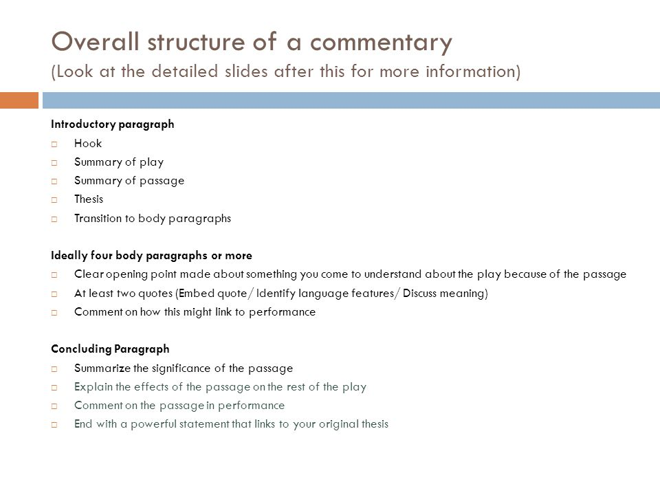 Now start.Introductory paragraph C.S.