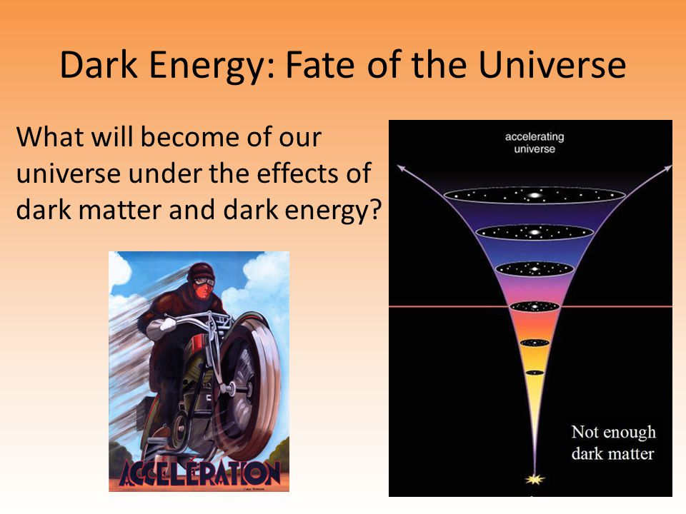 Dark Energy: Fate of the Universe What will become of our universe under the effects of dark matter and dark energy