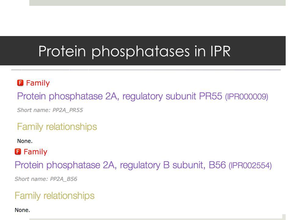 Protein phosphatases in IPR