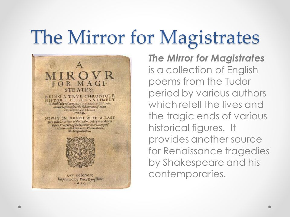 Shakespeare's invention In comparison to the morality plays and the de causibus tradition (exemplified by The Mirror for Magistrates), Shakespeare's tragedies are secular although the terms in which several of his heroes understand their suffering and death are recognizably Christian.