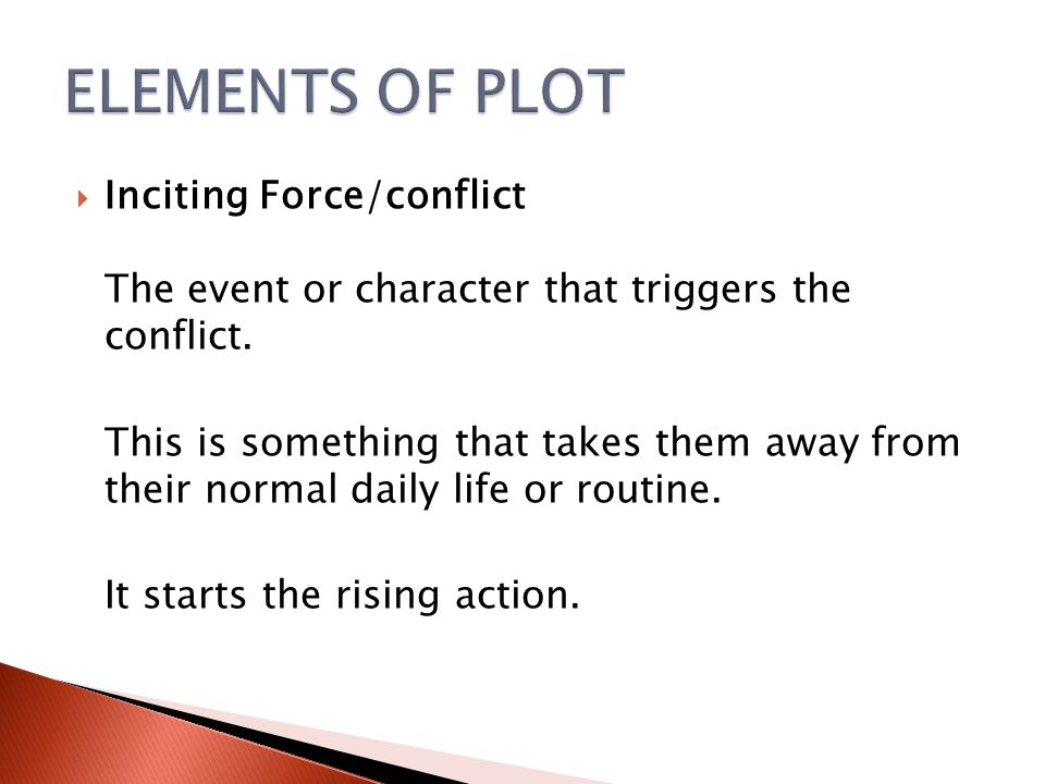 Resolution Inciting Force/conflict