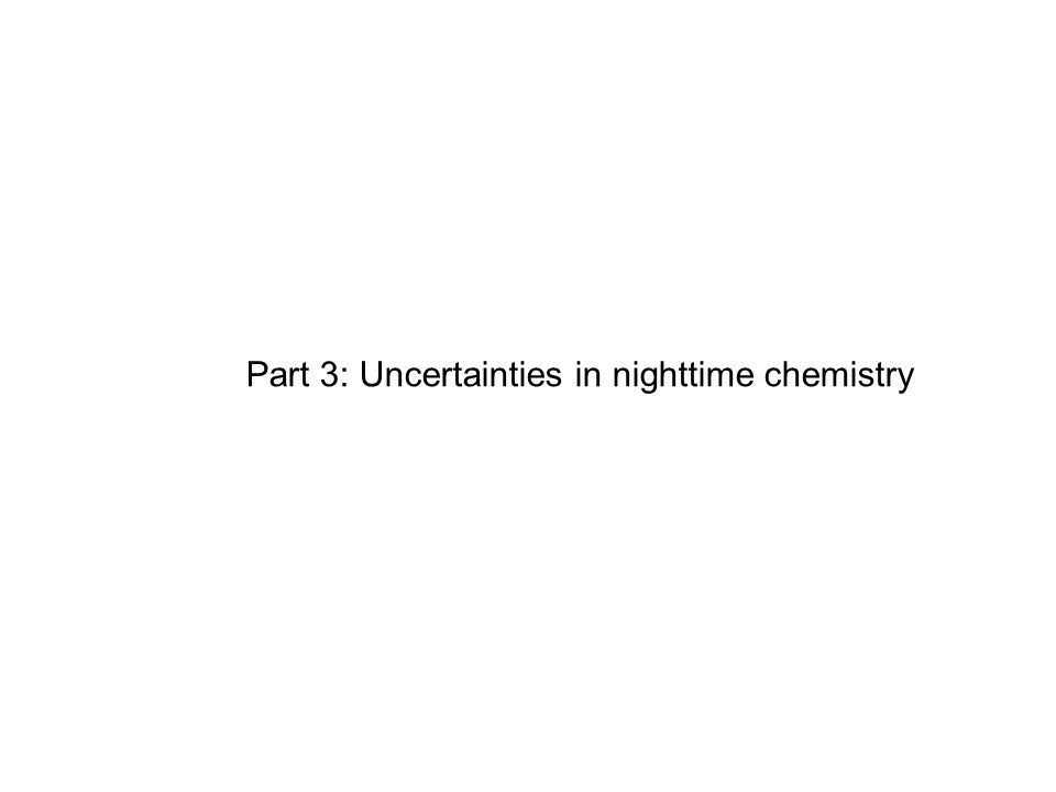 Part 3: Uncertainties in nighttime chemistry