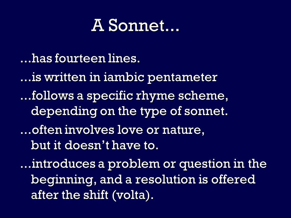 On It Like a Sonnet Fourteen lines of fun, fun, fun.