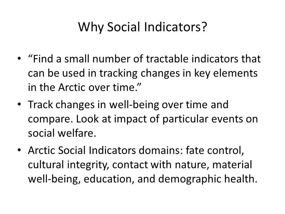 Why Social Indicators.