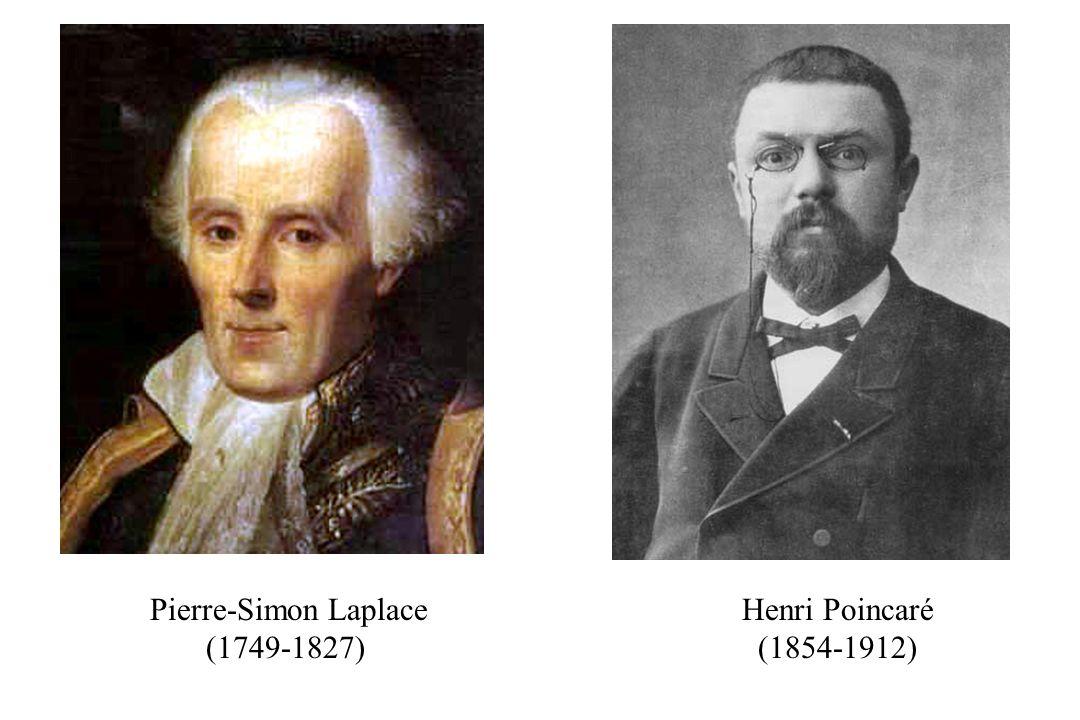 Henri Poincaré (1854-1912) Pierre-Simon Laplace (1749-1827)