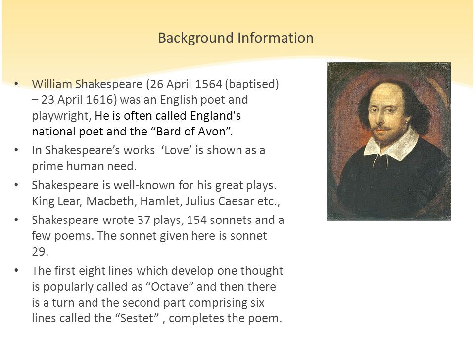 william shakespeare english