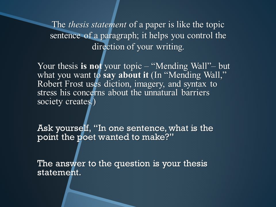 "mending wall essay questions 2011 question ""frost's simple your essay should be structured as always mending wall like 'the tuft of flowers', 'mending wall' presents us."