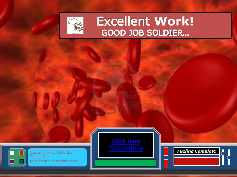 Level Complete Click here to Continue Vibrio cholerae Level Not Complete Please click all of the space ships.