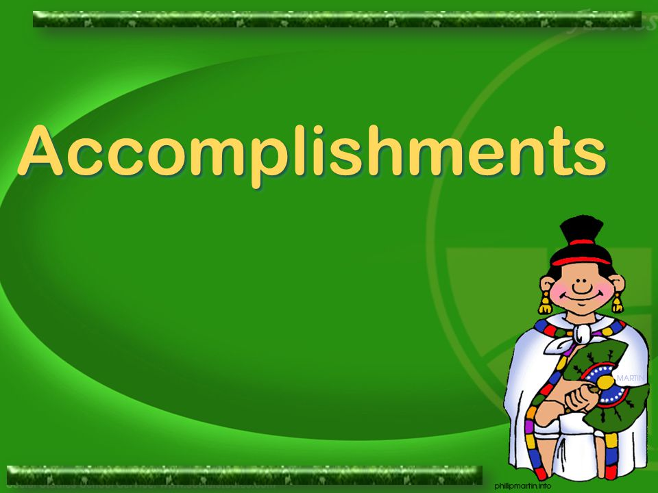 AccomplishmentsAccomplishments