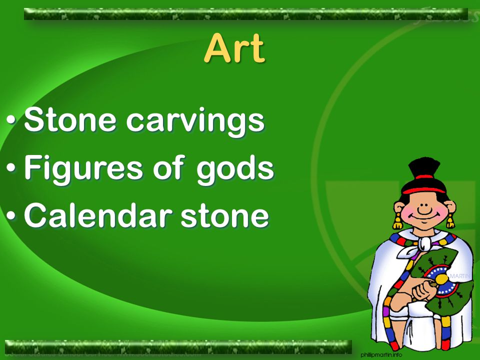 Stone carvings Stone carvings Figures of gods Figures of gods Calendar stone Calendar stone Stone carvings Stone carvings Figures of gods Figures of gods Calendar stone Calendar stone Art