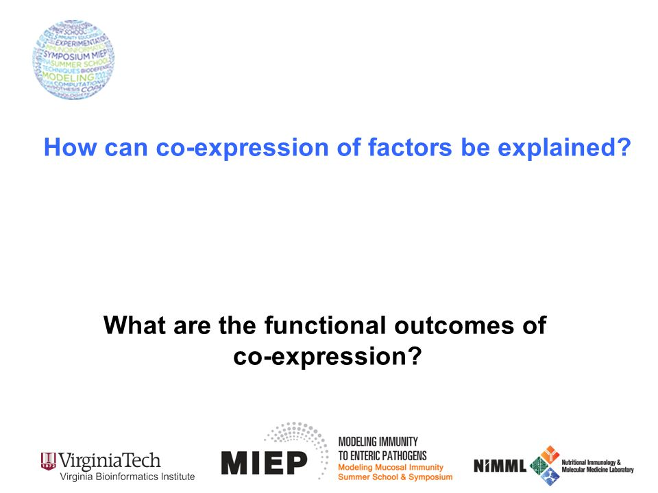 How can co-expression of factors be explained? What are the functional outcomes of co-expression?