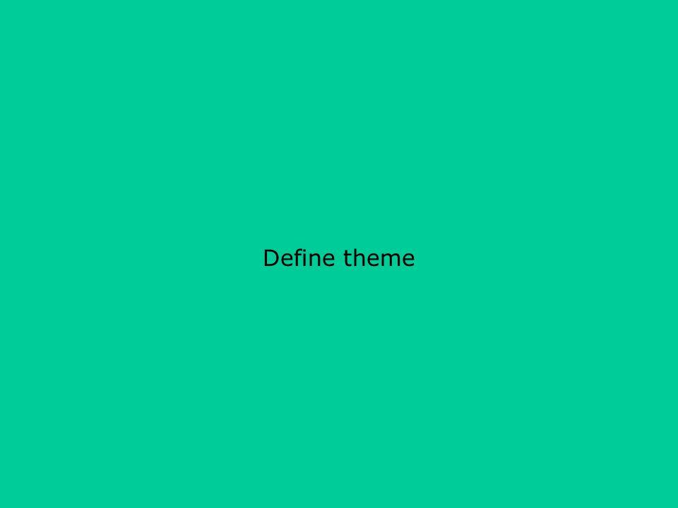 Define theme