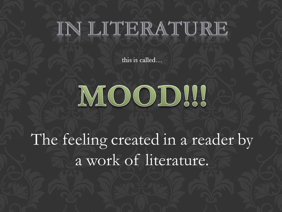 this is called… The feeling created in a reader by a work of literature.