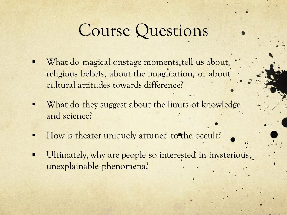 Our big questions Why is the occult so interesting to us.