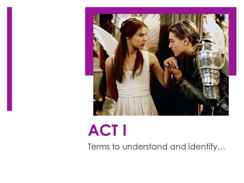 ACT I Terms to understand and identify…