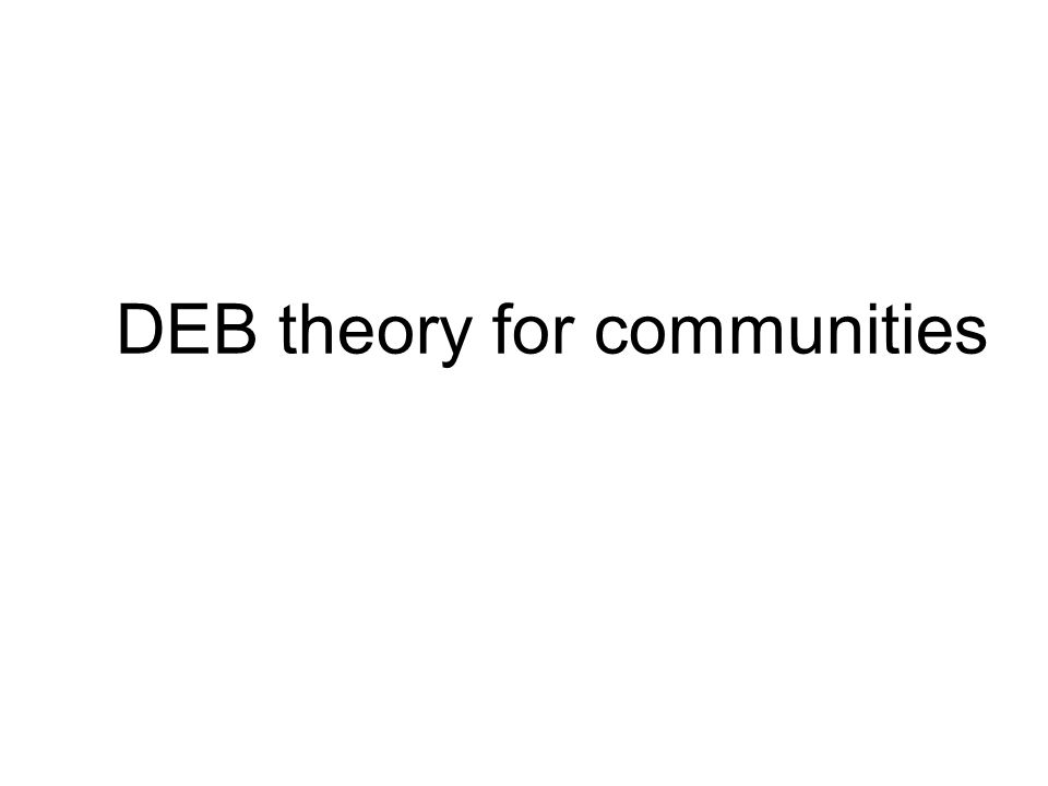 DEB theory for communities