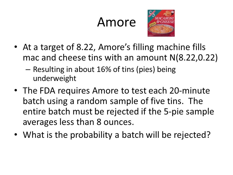We know how many sample pies will be underfilled….