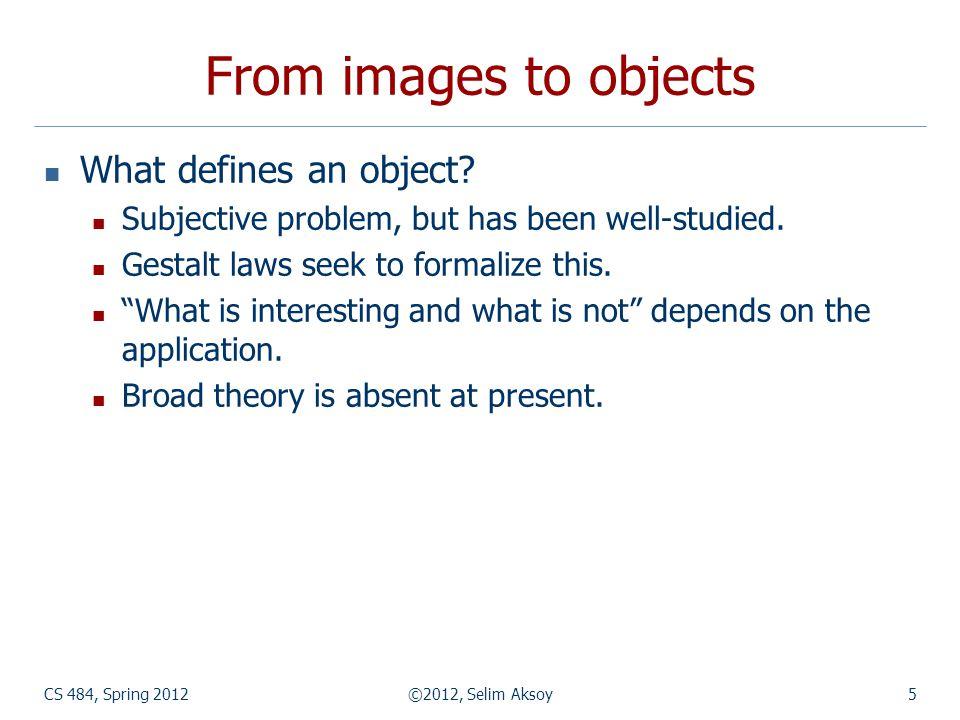 Mean shift algorithm CS 484, Spring 2012©2012, Selim Aksoy26 Search window Center of mass Mean Shift vector