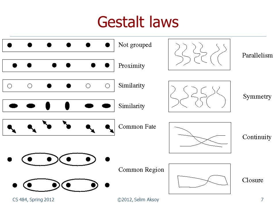 CS 484, Spring 2012©2012, Selim Aksoy58 Graph-based segmentation
