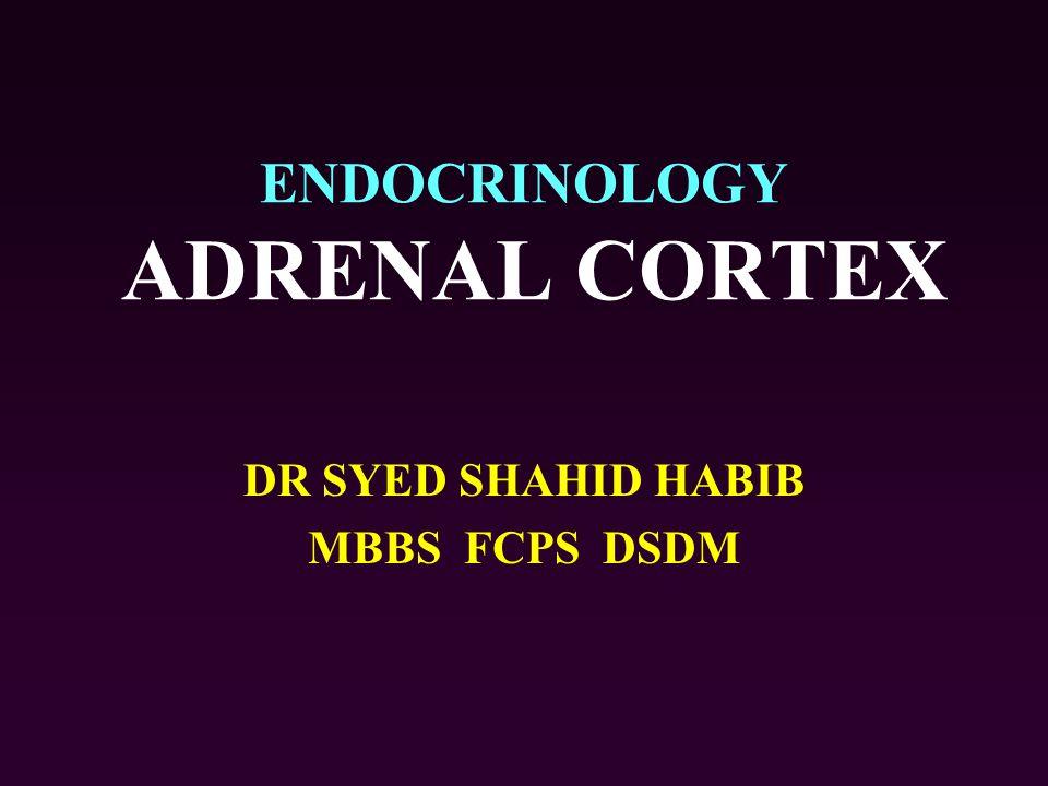 ENDOCRINOLOGY ADRENAL CORTEX DR SYED SHAHID HABIB MBBS FCPS DSDM