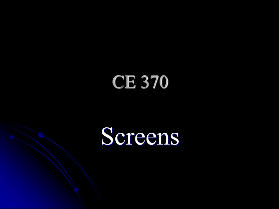 Example A mechanical bar screen is to be used in an approach channel with a maximum velocity of 1 m/s.