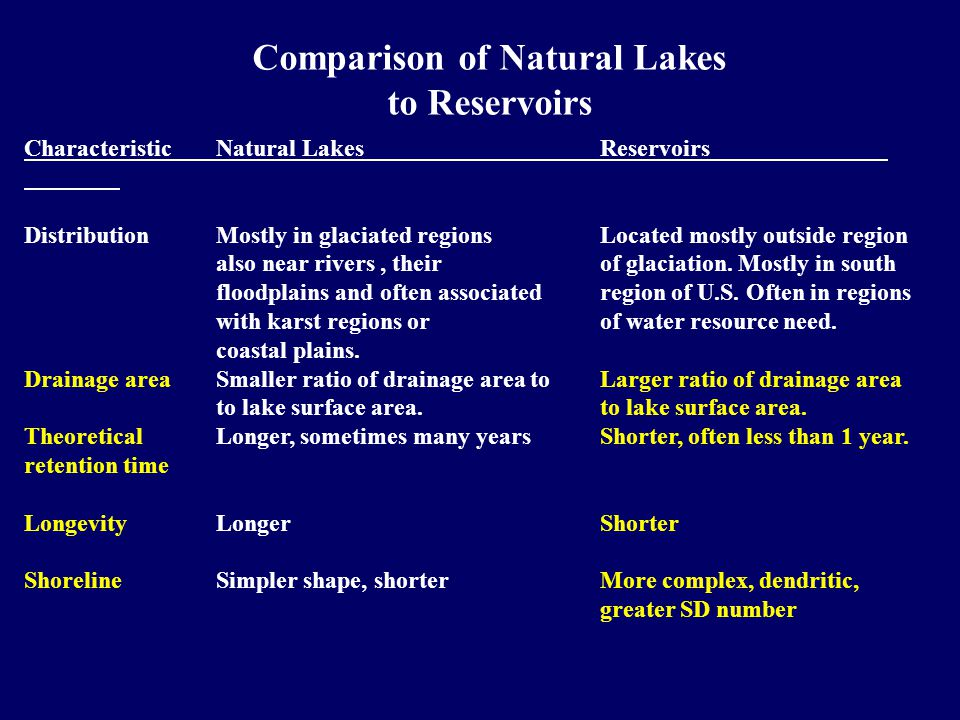 In Conclusion: The fourth factor - shoreline complexity, length, and development – is a factor that can be important for reservoir ecosystems and water quality.