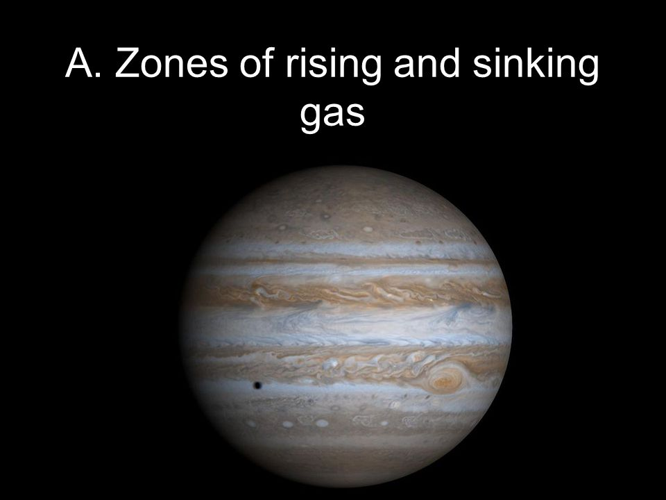 Copyright © 2010 Pearson Education, Inc. A. Zones of rising and sinking gas
