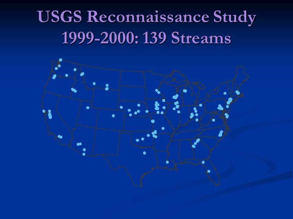 USGS Reconnaissance Study 1999-2000: 139 Streams