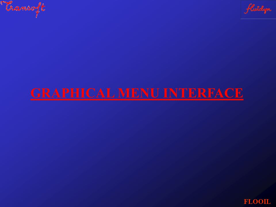 GRAPHICAL MENU INTERFACE