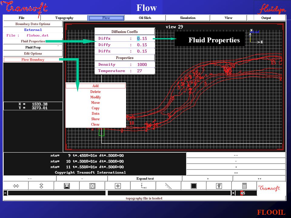 Fluid Properties Flow FLOOIL
