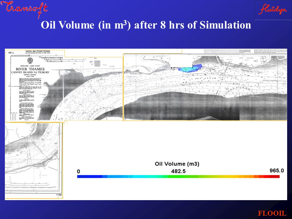 Oil Volume (in m 3 ) after 8 hrs of Simulation FLOOIL