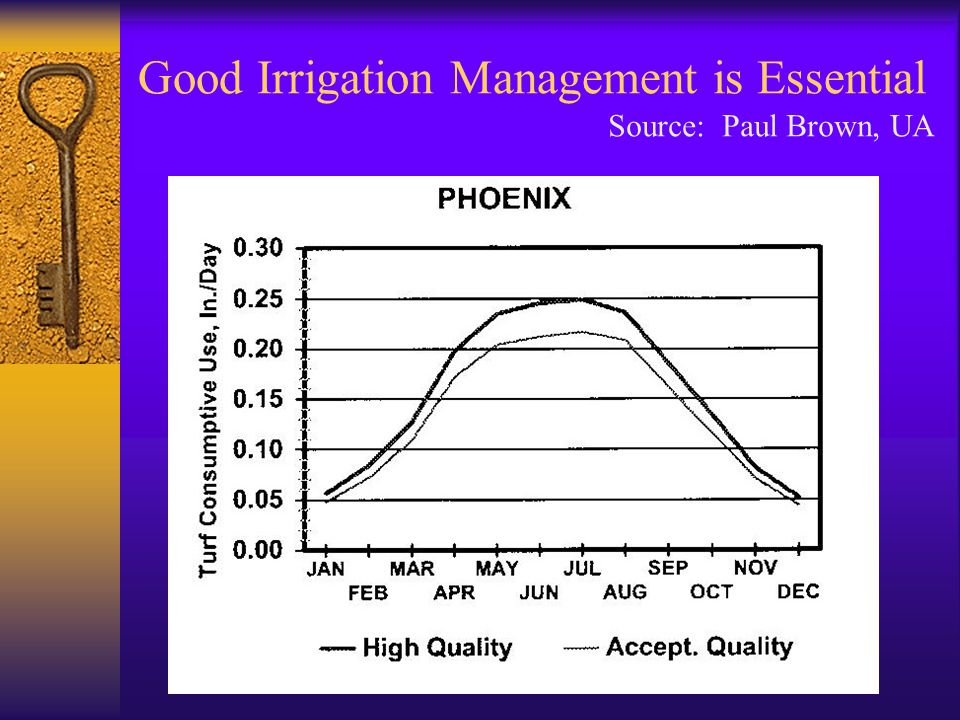 Good Irrigation Management is Essential Source: Paul Brown, UA