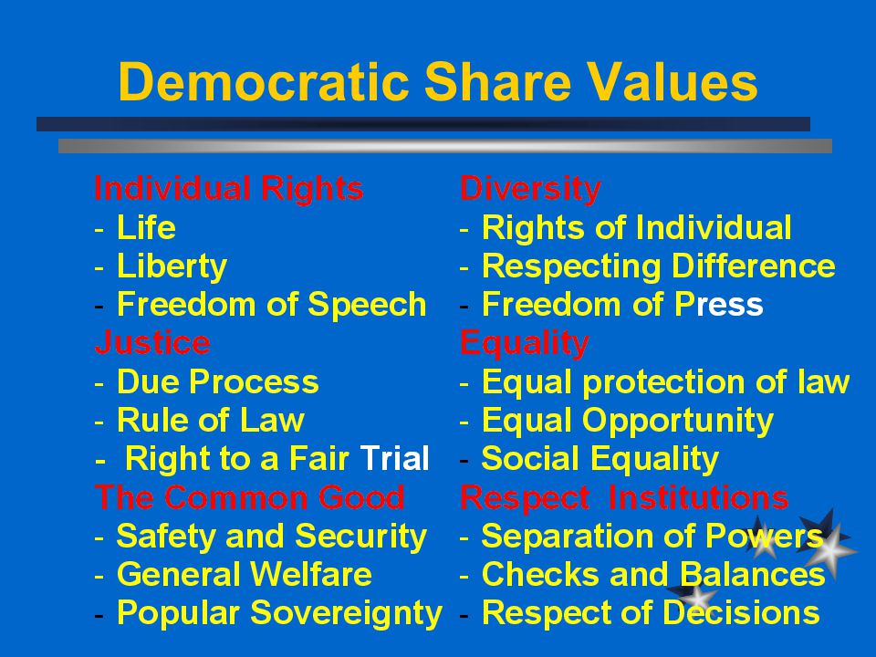 Democratic Share Values
