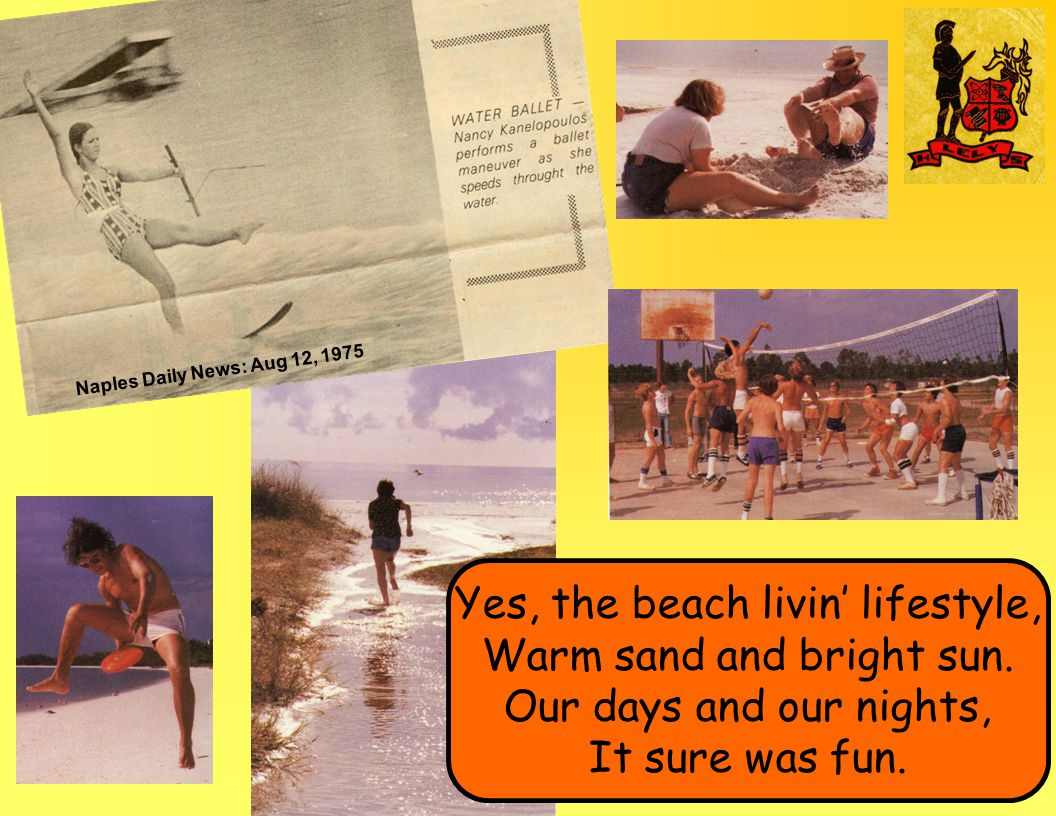 Naples Daily News: Aug 12, 1975 Yes, the beach livin' lifestyle, Warm sand and bright sun.