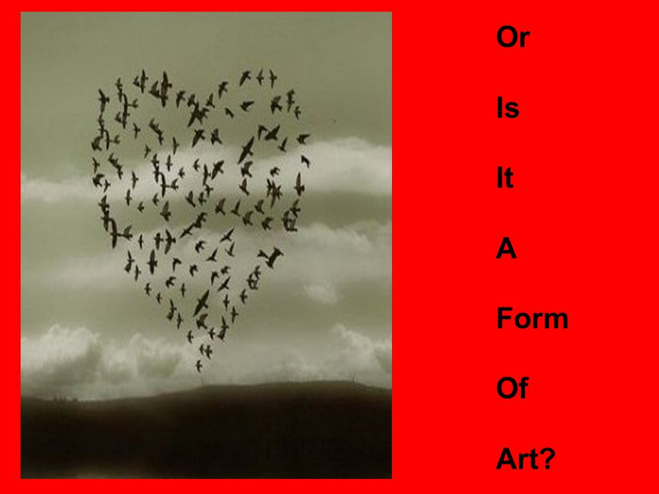 Or Is It A Form Of Art?