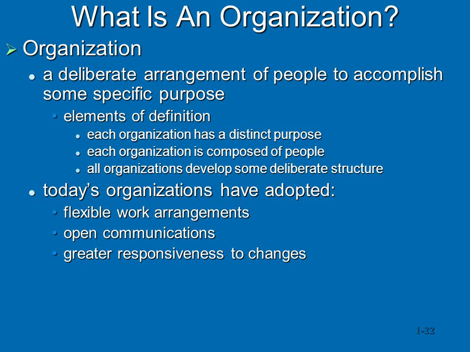 What Is An Organization.