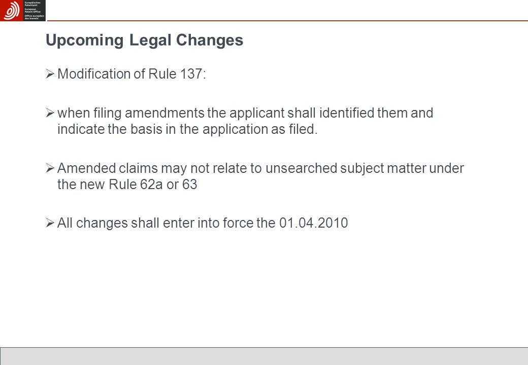  Modification of Rule 137:  when filing amendments the applicant shall identified them and indicate the basis in the application as filed.