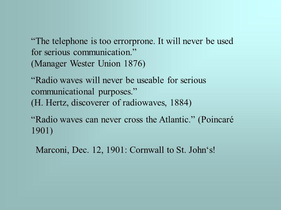 The telephone is too errorprone.