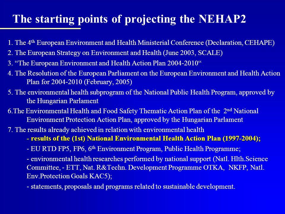 National Environmental Health Action Programme - NEHAP (1)
