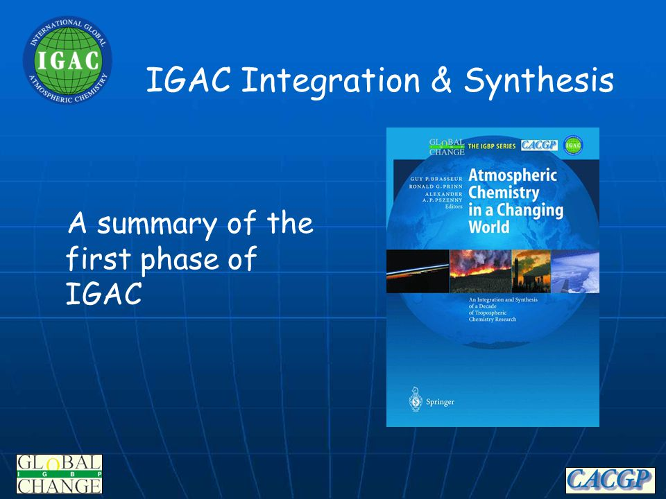 IGBP Integrated Earth System